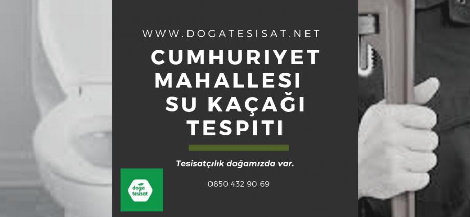 Cumhuriyet Mahallesi Su Kaçağı Tespiti